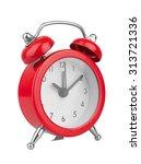 alarm clock  isolated on white... | Shutterstock . vector #313721336