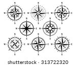 vector set of variations of the ... | Shutterstock .eps vector #313722320