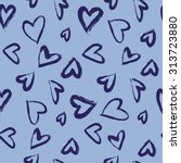 seamless pattern with hearts.... | Shutterstock .eps vector #313723880