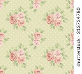 cute seamless shabby chic... | Shutterstock . vector #313724780