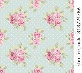 cute seamless shabby chic... | Shutterstock .eps vector #313724786