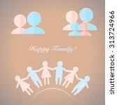 set of vector people pictogram. ... | Shutterstock .eps vector #313724966