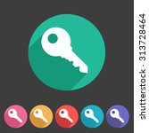 key lock log in icon flat web... | Shutterstock .eps vector #313728464