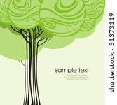 card design with stylized trees ... | Shutterstock .eps vector #31373119