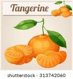 tangerine fruit  mandarin .... | Shutterstock .eps vector #313742060