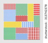 patchwork tile combined from... | Shutterstock .eps vector #313742378