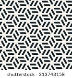 seamless monochrome hexagonal... | Shutterstock .eps vector #313743158