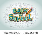 back to school background to... | Shutterstock .eps vector #313755128