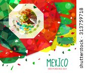 mexico independence day flag... | Shutterstock .eps vector #313759718