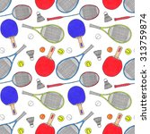 racquets  balls and... | Shutterstock . vector #313759874