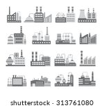 illustration of black and white ... | Shutterstock .eps vector #313761080