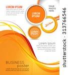 magazine cover  design layout... | Shutterstock .eps vector #313766546