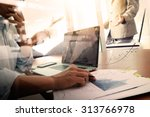 business documents on office... | Shutterstock . vector #313766978