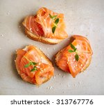 Bread With Salmon Fillet  Top...
