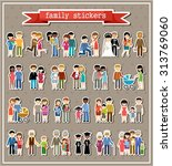 stickers of family life in... | Shutterstock .eps vector #313769060