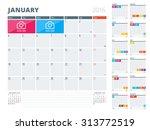 calendar planner 2016 design... | Shutterstock .eps vector #313772519