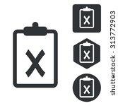 negative result icon set ...