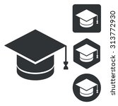 graduation icon set  monochrome ...