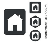 house plate icon set ...