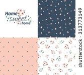 seamless pattern in vintage... | Shutterstock .eps vector #313773149