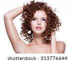 beautiful young sensual woman... | Shutterstock . vector #313776644