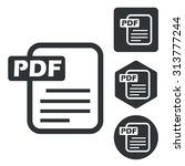 pdf document icon set ...
