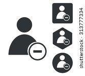 delete user icon set ... | Shutterstock .eps vector #313777334