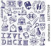 history doodles | Shutterstock .eps vector #313779539