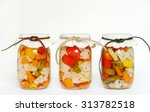 canned homegrown pickled... | Shutterstock . vector #313782518