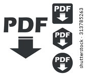 pdf download icon set ...