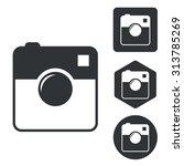 square camera icon set ...