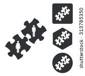 people puzzle icon set ...