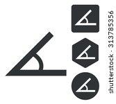 angle icon set  monochrome ...