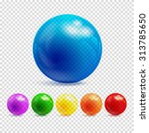 3d Transparency Sphere Vector...