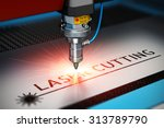 laser cutting metal industry... | Shutterstock . vector #313789790