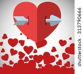love concept with heart design  ...   Shutterstock .eps vector #313790666
