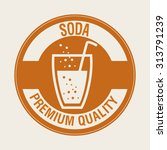 soda drink and his respective... | Shutterstock .eps vector #313791239
