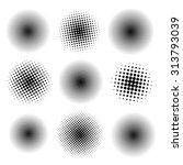 nine spots. vector elements.... | Shutterstock .eps vector #313793039