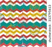 vintage dreamcatcher zig zag... | Shutterstock .eps vector #313795613