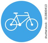 bicycle outline icon  modern... | Shutterstock .eps vector #313800413