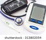 digital blood pressure monitor  ... | Shutterstock . vector #313802054