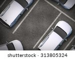 free parking spot between other ... | Shutterstock . vector #313805324
