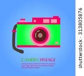 camera vintage | Shutterstock .eps vector #313805876