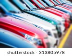 colorful cars stock. cars for... | Shutterstock . vector #313805978
