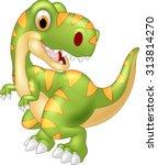 cartoon dinosaur tyrannosaurus... | Shutterstock .eps vector #313814270