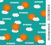 summer sun background | Shutterstock .eps vector #313818014