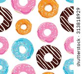 vector seamless pattern with... | Shutterstock .eps vector #313818929