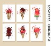 hand drawn vector illustration... | Shutterstock .eps vector #313819208