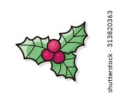 poinsettia doodle   Shutterstock .eps vector #313820363