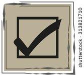 tick icon   Shutterstock .eps vector #313821710